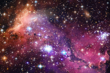 Space Background with Colorful Galaxy Cloud Nebula. The elements of this image furnished by NASA.
