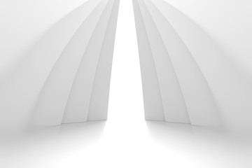 Fotobehang - Abstract Architecture Background. Minimal Graphic Design
