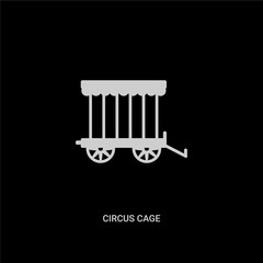 white circus cage vector icon on black background. modern flat circus cage from circus concept vector sign symbol can be use for web, mobile and logo.