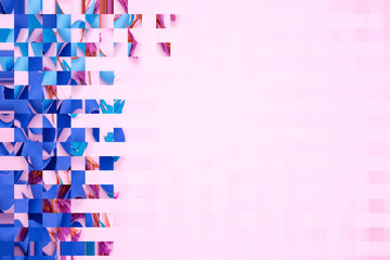 abstract square colorful background and pattern