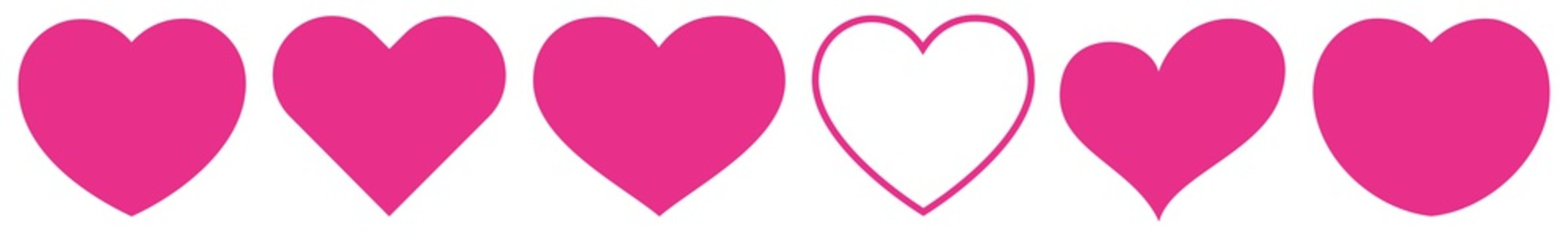 Heart Pink   Love   Logo   Variations