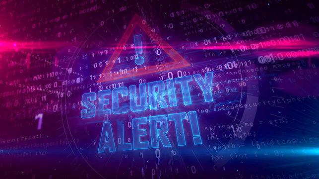 Security alert hologram illustration