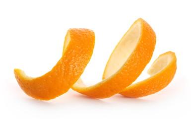 Fototapeta Orange peel isolated on white background obraz
