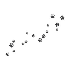 Paw background template illustration design