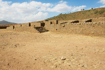 Ruins of the Queen Sheba palace in Aksum, Ethiopia.