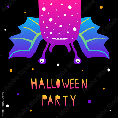 Abstract Happy Halloween Pattern Background Modern Childish