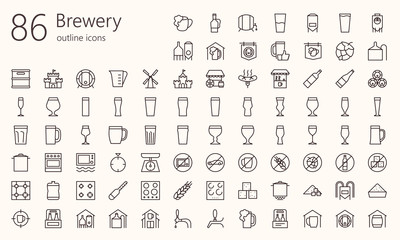 Brewery outline iconset. Was created with grids for pixel perfect (if use minimal icon size 128x128px )