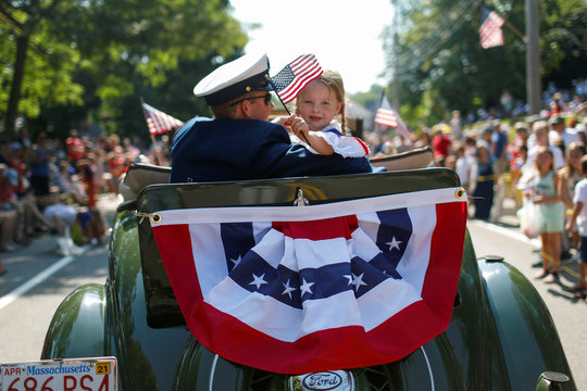 4th of July parade in Barnstable Village on Cape Cod, Massachusetts