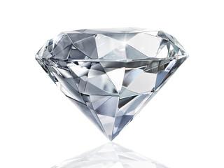 Dazzling diamond on white background