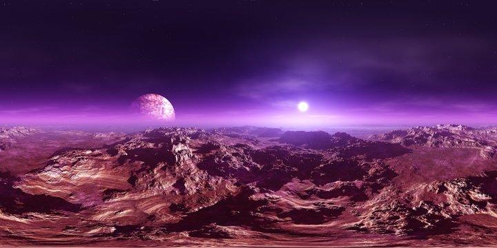 Panorama of Mars, HDRI, environment map , Round panorama, spherical panorama, equidistant projection, panorama 360