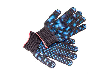 Working protective gloves insulated on white