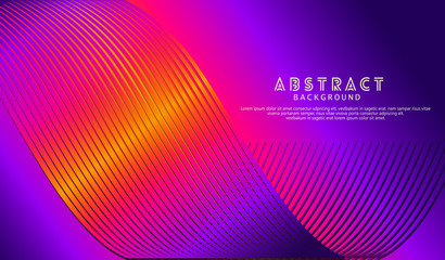Photo sur Aluminium Art abstrait Abstract wave lines background for element design and other users
