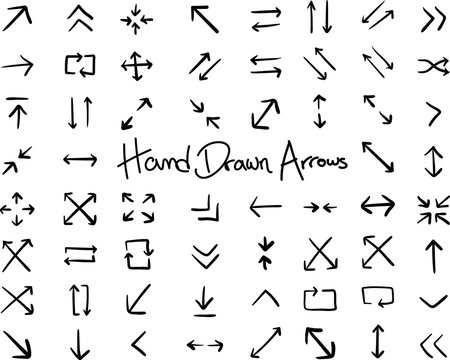 Hand Drawn Arrows Infographic Elements