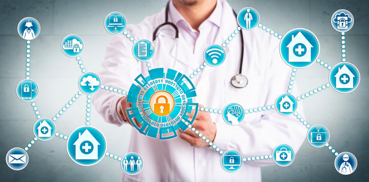 Young Clinician Securely Sharing Healthcare Data