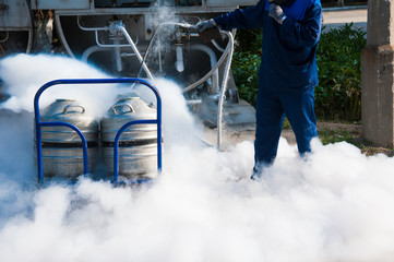 Nitrogen storage tank at new factory Wall mural