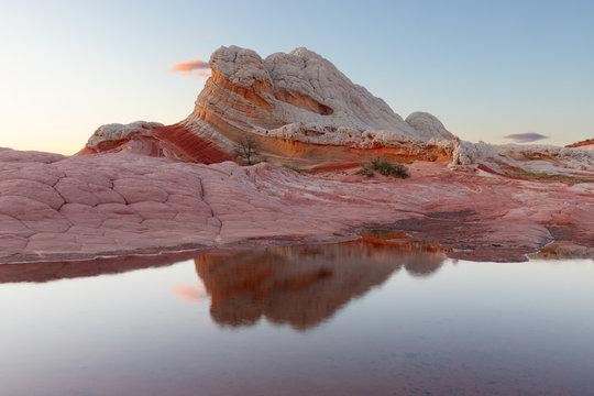 White Pocket Reflection at Sunset, Vermilion Cliffs National Monument, Arizona