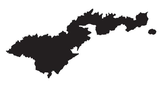 American Samoa SIlhouette Map