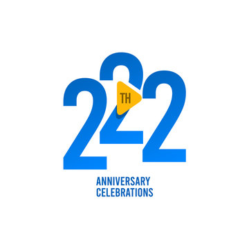 222 Years Anniversary Celebration Vector Template Design Illustration
