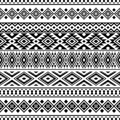 Ikat ethnic pattern vector in black and white color