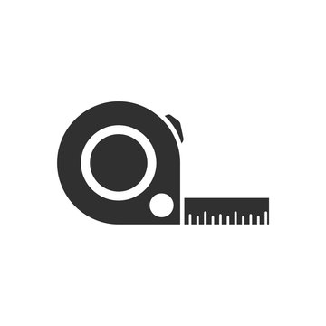Tape measurement icon template black color editable. Tape measurement symbol vector sign isolated on white background. Simple logo vector illustration for graphic and web design.