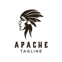 american apache indian logo