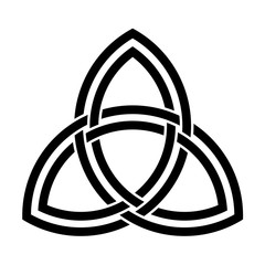 Double interlaced triquetra