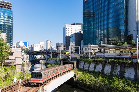 (東京都ー都市風景)万世橋近くの神田川周辺の風景4