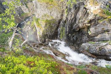Voringsfossen Wasserfall in Eidfjord, Norwegen