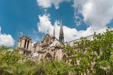 Notre Dame de Paris Cathedral, most beautiful Cathedral in Paris. France