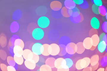 Blurred view of colorful lights