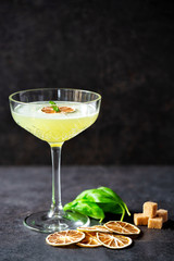 Twist up your normal taste of tipsiness with this Basil Daiquiri cocktail