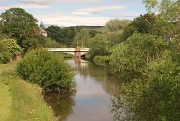 iron road bridge over river Tyne, Haddington