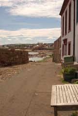 small lane to Dunbar shore