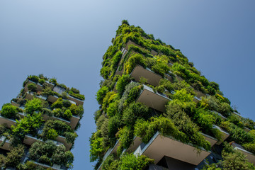 Tuinposter Milan vertical wood