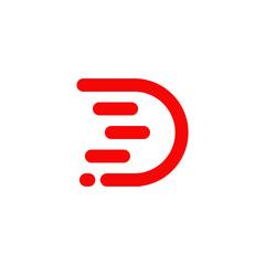 D letter initial logo design vector template