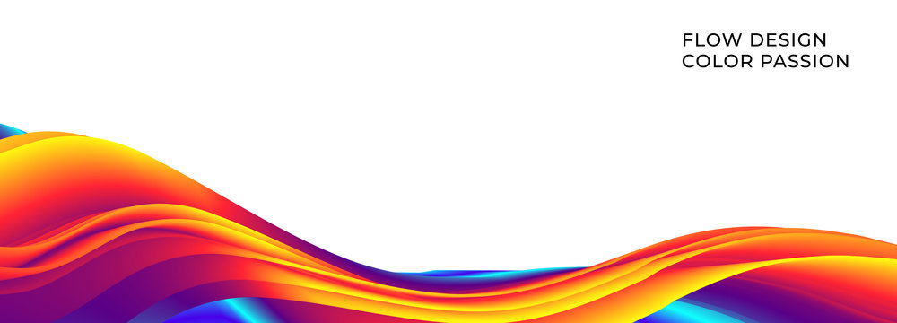 Colorful wavy flows of a fluid lines and liquid shapes with a smooth splash of color. Eps10.