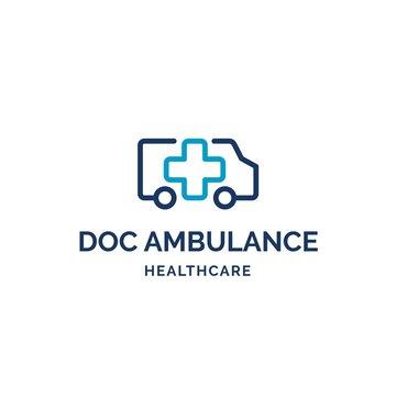 Cross health ambulance medical logo design inspiration