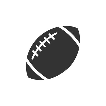 American football icon template black color editable. sports ball symbol vector sign isolated on white background. Simple logo vector illustration for graphic and web design.