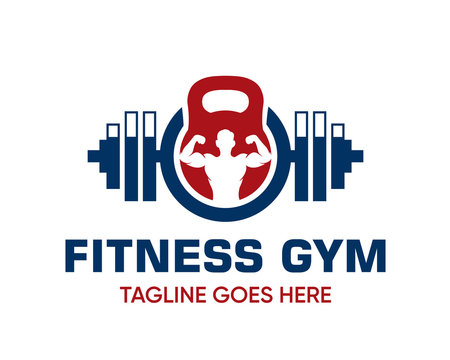 Fitness Logo Design Template-Muscle Logo-Design For Gym and Fitness-Vector