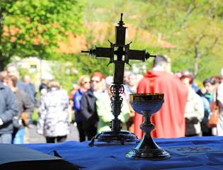 caliz y cruz reliquia misa cristianismo 4M0A3007-as19