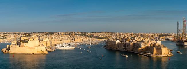 Malta. Birgu and Senglea skyline
