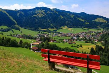 Holiday destination Wildschönau - Niederau, panoramic view, Tyrol - Austria