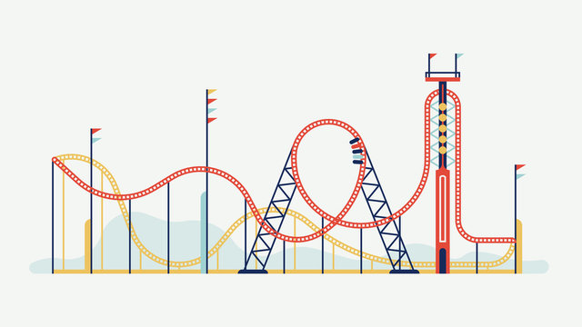 Rollercoaster design element