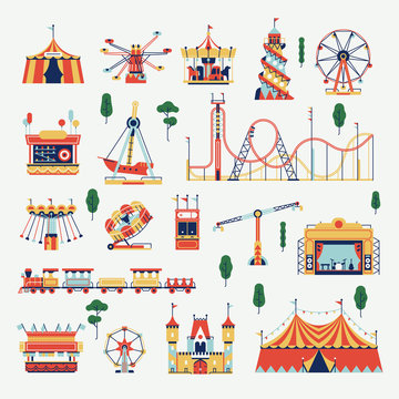 Amusement park design elements