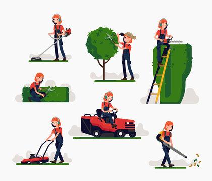 Female gardener at work