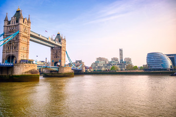 Foto op Canvas London Tower Bridge across the River Thames in London, UK.
