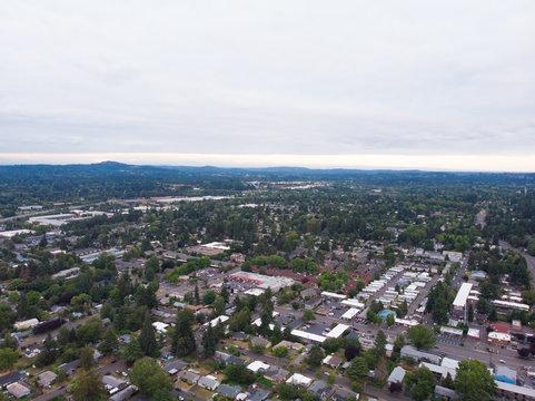 Photo suburb, top view, landscape shooting