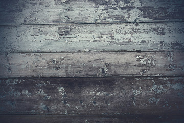 Old grungy wooden planks. Horizontal view. Close-up. Background. Texture.
