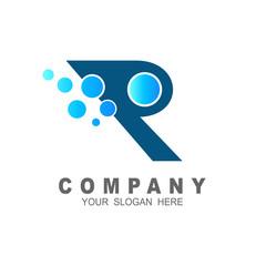 R logo with babble design vector