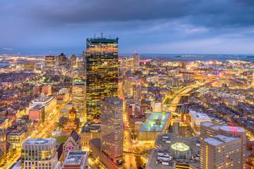 Boston, Massachusetts, USA cityscape at dusk. Fototapete